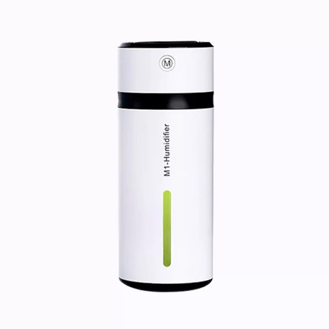 Elogogo Portable M1 Cool Mist Humidifier Mini 230ml Colorful Night Light Water Bottle Air Diffuser Humidifier with Adjustable Mist Mode for Office,Car,Baby Room,Bedroom (Green)