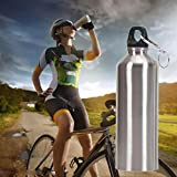 Iusun 750ML Stainless Steel Wide Mouth Drinking Water Bottle...