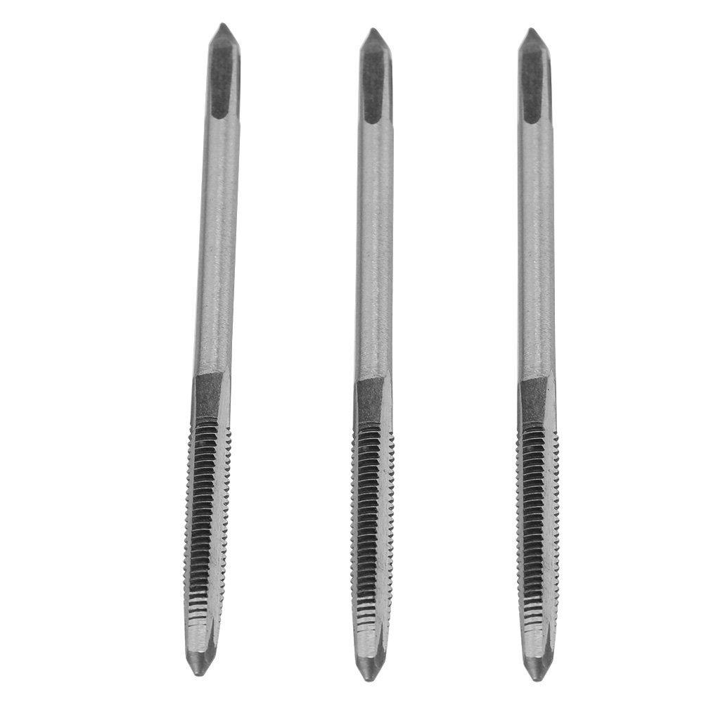 3 Pcs/Set M3/M4/M5 Bearing Steel Hand Thread Tap Screw Taps Tool(M4)