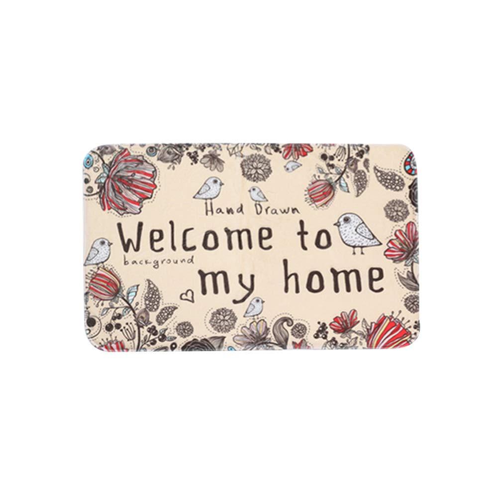 VelvxKl Morbido gatto bello zerbino da tavola tappeto lettere antiscivolo tappeto tappetino casa tappetino cucina bagno decorazione del pavimento 1#