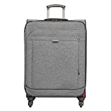 Ricardo Beverly Hills 085-25-020-4VP Malibu Bay 25-Inch Spinner Upright Suitcase, Gray, One Size