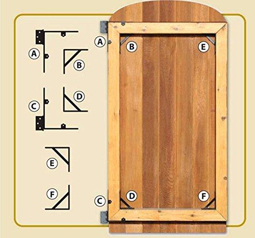 Old Gate - NUVO IRON GATE CORNER BRACE AND HINGE KIT GCBHK01