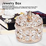 HERCHR Crystal Jewelry Box & Organizers with