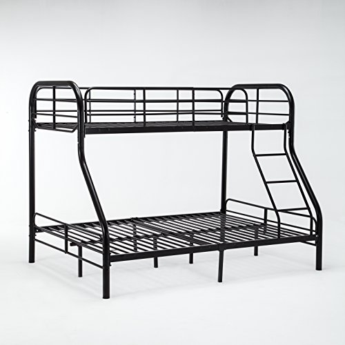 Dehors Sun, Twin Over Full Metal Bunk Bed Frame With Ladder Space-Saving Design Black(Black) by Dehors Sun