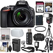 Nikon D5600 Wi-Fi Digital SLR Camera & 18-140mm VR DX AF-S Lens with 64GB Card + Case + Flash + Video Light + Battery & Charger + Tripod + Filter Kit