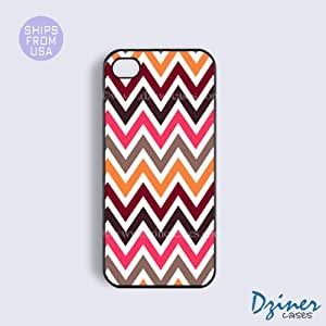 iPhone 4 4s Case - Colorful Multi Chevron iPhone Cover