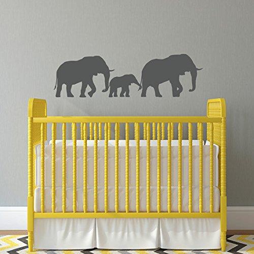 Amazon.com: Elephant Family Decal - Nursery Wall Decal - Baby Wall ...