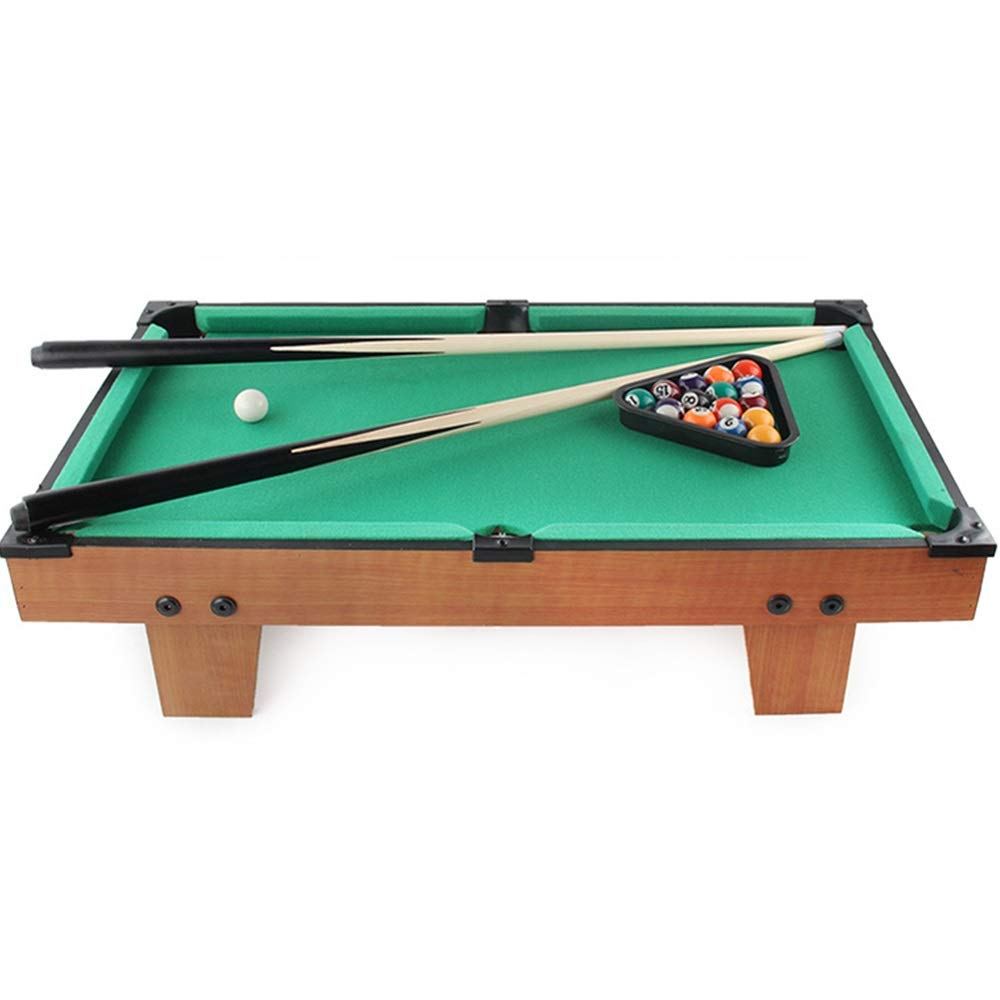 Ybriefbag-Sports Tabletop Billiards Desktop Pool Table Set Mini Pool-Billiard Table Tabletop Toy with Mini Pool Balls Cue Sticks Accessories Gaming Toy for Adults Kids (Color, Size : 62.5x14.5x37cm) by Ybriefbag-Sports