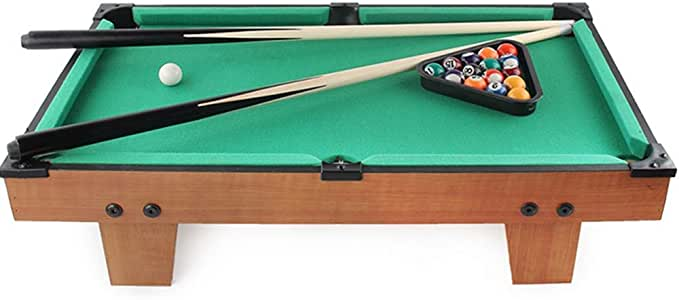 Billar Snooker plegable Mini piscina-billar juguete de mesa Tabla con la mini bolas de piscina Cue Sticks Accesorios for juegos de juguetes for adultos en miniatura niños escritorio mesa de billar Set: