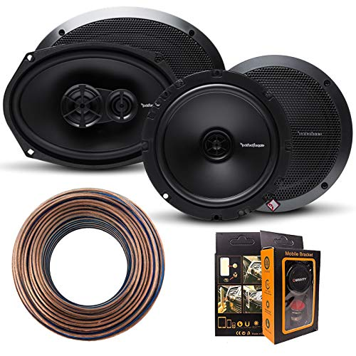 (Rockford Fosgate R1675X2 Prime 6.75-Inch Full Range 2-Way Coaxial Speaker + R169X3 Prime 6 x 9 Inch 3-Way Full-Range Coaxial Speaker + Speaker Wires)
