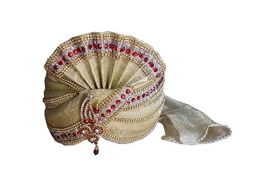 886b7261a7a Kalra Creations Indian Groom Pagri Men Hat Sherwani Safa Handmade Turban  PAG Top Hat  Amazon.co.uk  Clothing