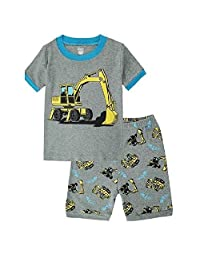 Hooyi Baby Boy Truck Sleepwear Cotton Short Pajamas Set