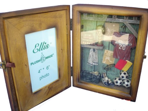 Soccer Photo Frame Award - Soccer Shadow Box Picture Photo Frame , Great Gift for Home Decor, Wall Decor Art, Or, Tabletop Decor