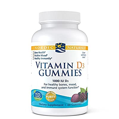 Nordic Naturals - Vitamin D3 Gummies - Healthy Bones, Mood, and Immune System Function