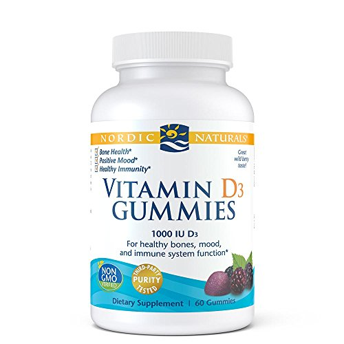 Nordic Naturals Vitamin D3 Gummies Vitamin D From Natural Cholecalciferol For Optimal Absorption, Aids in Regulating Calcium, Immune System Support, Sleep Aid and Mood Support, Wild Berry Flavor