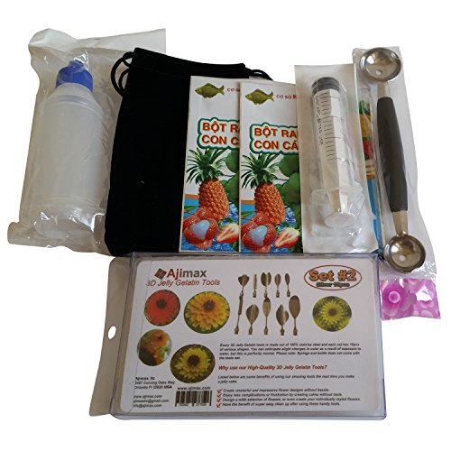 3D Jelly Gelatin Art Tools Starter Kit Gracilaria Jello Cake Tools Assorted Choice  Kit  2