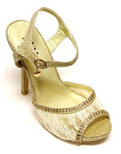 Womens peep 24 Gold platform Helena toe Bella paisley sandals heel Marie upper beaded txn1XqqR