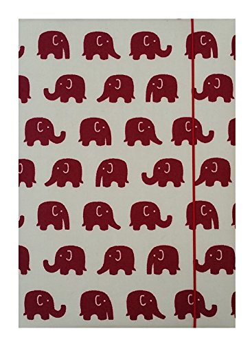 Travel Journey White & Red Elephants Cotton Fabric Passport Holder,cover, Case, Wallet / Id Card, Boarding Pass Holder