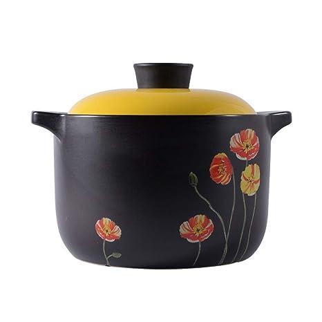 XuYuanjiaShop Olla de cerámica Negra de Alta Temperatura for ...