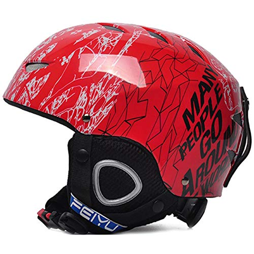 (Flying boy Ski Helmet, Children Snow Sports ski Snowboard Helmet Boys and Girls,Red,S)