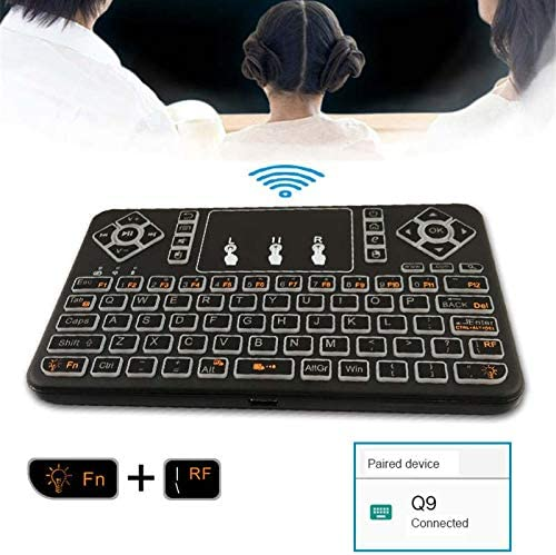 DP-iot HOT-Wireless Keyboard Backlight Mini Multi-Contact Smart Bluetooth Keyboard with Three Colors Black Plastic