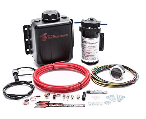 Stage 2 Boost Cooler Forced Induction Progressive Water-Methanol Injection Kit (Red High Temp Nylon Tubing, Quick-Connect Fittings)