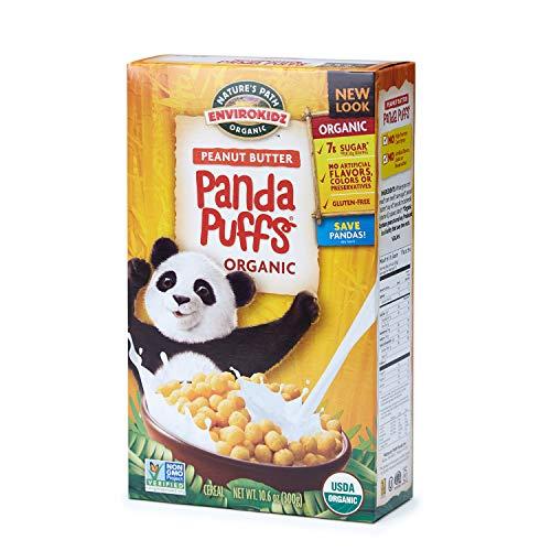 Nature's Path EnviroKidz Peanut Butter Panda Puffs Cereal, Healthy, Organic, Gluten-Free, 10.6 Ounce Box (Pack of -
