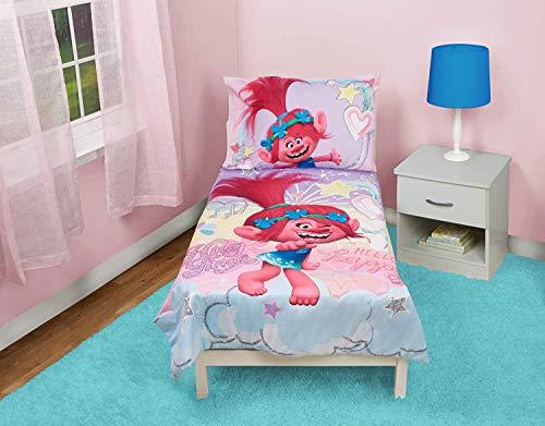 EVERYDAY KIDS Trolls Trolls Hug Time 4-Piece Toddler Bedding Set, Pink, Toddler