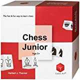 Chess Junior - Chess Set for Kids and Beginners with parent-child tutorial, Board Games For Children Ages 5-12, red/white