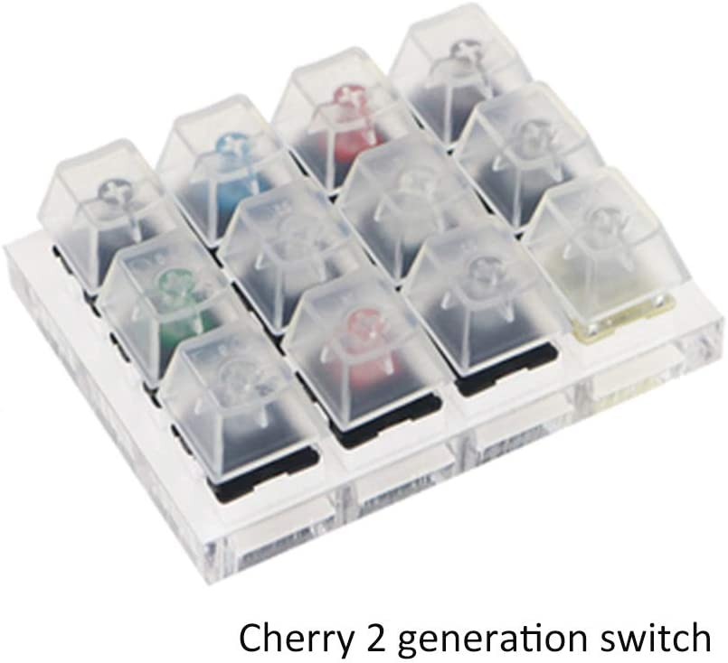 Man-hj Keyboard keycaps Box Blue Black Red Brown Green Milk Grey Silver Switches Tester with Transparent Keycaps Color : Kailh Box