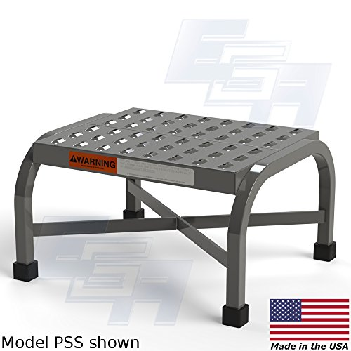 EGA Merchandise Step Stool [Made in USA], Perforated Tread, Welded, OSHA Compliant, 16″x14″ Platform, Heavy Obligation 350 lbs. Capability, 10.5″ Tall
