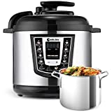 Electric Pressure Cooker,Cookjoy Multi-Cooker 6 Litre 8-in-1 Programmable Cooker with Stainless Steel Inner Pot