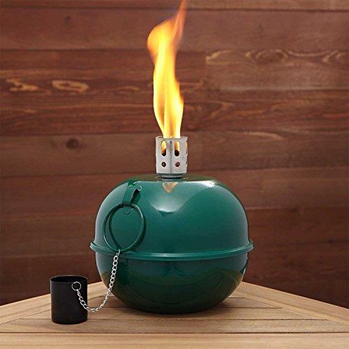 Kerosene Oil Hurricane Lantern SMUDGE POT Camping Lamp Emergency Light Citron Burner (GREEN)