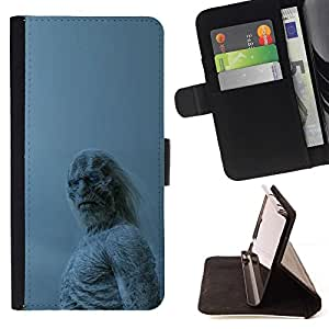 Momo Phone Case / Flip Funda de Cuero Case Cover - Blanca Walker;;;;;;;; - Samsung Galaxy S6