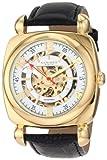 Akribos XXIV Men's AKR479YG Bravura Skeleton Automatic Square Watch, Watch Central