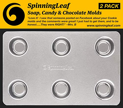 SpinningLeaf Candy Drop Mini Oreo (Bite Size) Cookie Chocolate Molds (Pack of 2) -