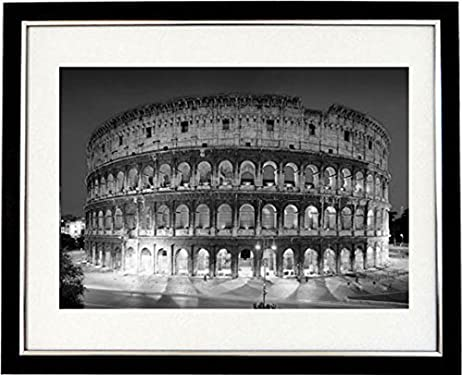 Roman colosseum framed black white print of the colosseum and ancient rome italy a