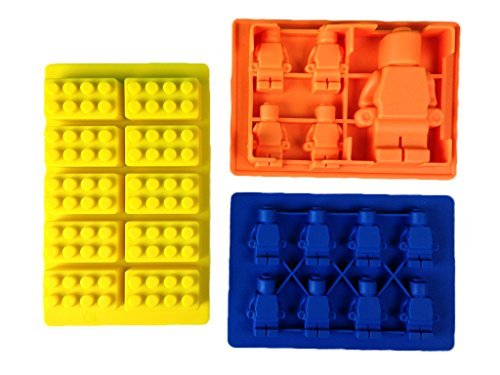 Silicone Mold for Lego Lovers with Tips & Recipes E-Book