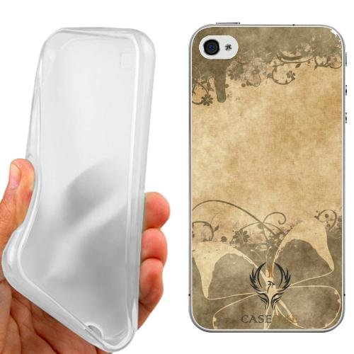 CUSTODIA COVER CASE VINTAGE SFONDO FARFALLA PER IPHONE 5C