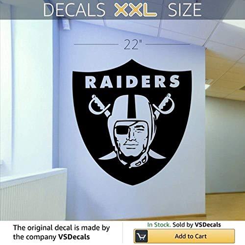 (Wall Vinyl Decal Oakland Raiders Vinyl Decor Sticker Home Art Print TT9708)