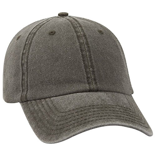 - Product of Ottocap Garment Washed Pigment Dyed Cotton Twill Six Panel Low Profile Dad Hat -Dk. Ol. Green [Wholesale Price on Bulk]