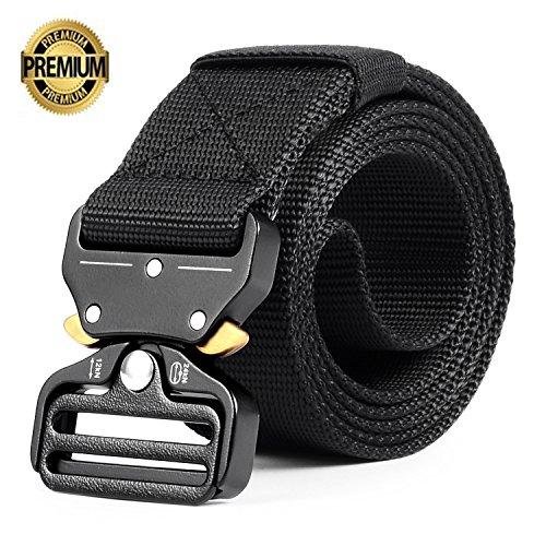 Tactical Belt, OHENNY Military Tactical Rigger Belt Webbing Adjustable Nylon Web Belt with Heavy-Duty Quick-Release Metal (Adjustable Web)