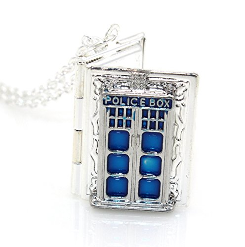 Dr. Who Tardis Book Locket (Antique Silver)
