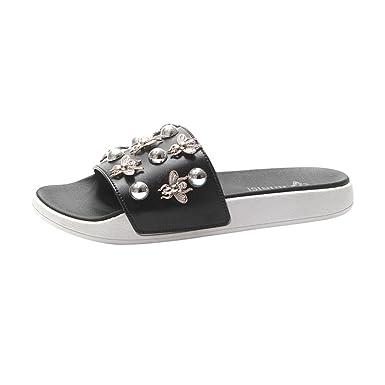ac1cb940c440 DENER Women Girls Ladies Flat Slippers
