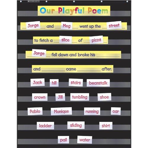 SCHOLASTIC TEACHING RESOURCES STANDARD BLACK POCKET CHART (Set of 6)