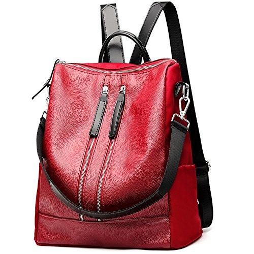 MSXUAN Unisex Classic leather Backpack For Men & Women