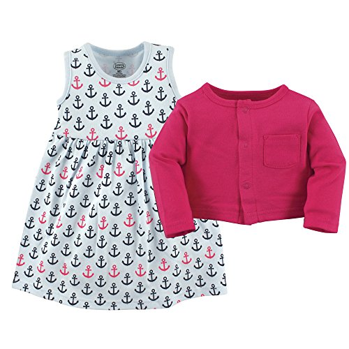 Luvable-Friends-Baby-Girls-Dress-and-Cardigan-Set