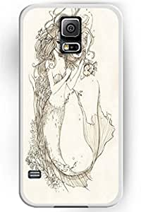 Beautiful Vintage Design Hard Shell for Samsung Galaxy S5 Hard Plastic Back Case for Women -- Beauty Mermaid and Little Fishes