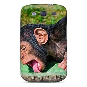 Premium Durable Animals Monkeys Drinking Monkey Fashion Tpu Galaxy S3 Protective Case Cover