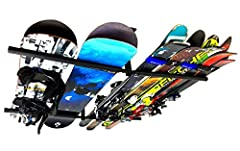 StoreYourBoard, the leaders in sports storage, bring you its new, patent-pending, heavy-duty multi ski and snowboard ceiling storage rack! Durable, Steel Construction. This Ski and Snowboard Ceiling Rack is an incredibly sturdy way to store y...